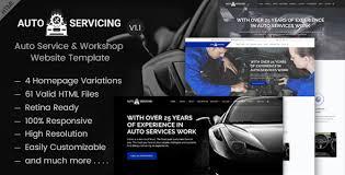 Car Template Autoservicing Automobile Auto Service Garage Workshop Html