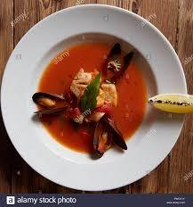 italian seafood soup Stock Photo ...
