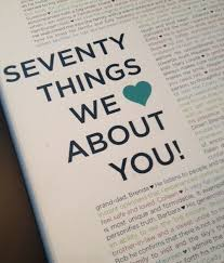 ged 70 things we love about you 70 birthday gift ideas