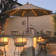 covered patio lighting ideas. Exterior:Exotic Outdoor Patio Lighting Ideas Plus Kitchen Bar Over Umbrellas With Fairy Covered L