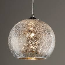 Ribbed Dome Mercury Glass Shade Pendant Light bronze_and_mercury_glass