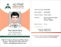 Design Template Employee Id Downl Badge Card Identification Free
