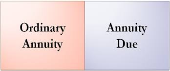 difference between ordinary annuity and annuity due with parison chart key differences