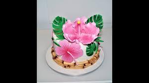 Cake decorating tutorials   how to make a <b>Hawaiian</b> LUAU cake ...