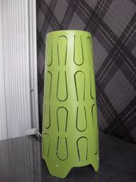 lime green table or bedside lamp from ikea