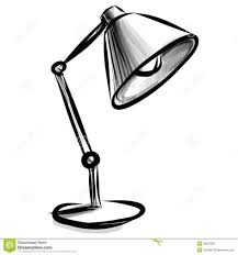 floor lamp clipart black and white. Contemporary Clipart Adjustable Table Lamp Isolated On White Stock Photography Intended Floor Clipart Black And P