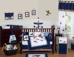 red white and blue vintage aviator airplane baby bedding 9 pc crib set only 189 99
