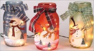 Ideas For Decorating Mason Jars For Christmas DIY Snowman Mason Jars for the Holiday Season 41