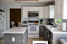 Chic White and Grey Kitchen Paint Colors for Modern Kitchen with White  Acrylic Countertops