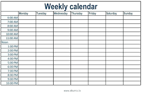 Daily Calendar Template 30 Minute Increments Printable Schedule Template