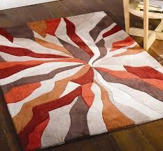 splinter burnt orange rugs modern rugs rugs