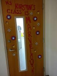 high school classroom door. {Image Is Of A Classroom Door Decorated With Replicas Captain America\u0027s Shield, Thor\u0027s High School