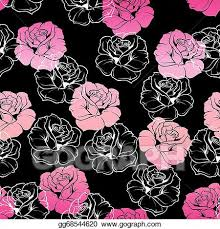 cute pink and black wallpaper. Floral Vector Pink Black Wallpaper For Cute And