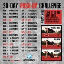 30 day push up challenge for men