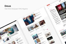 Newspaper Html Template Deus Multi Niche Newspaper Html Magazine Weidea