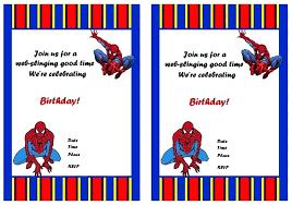 Free Birthday Invitations Free Editable Spiderman Birthday Invitation Custom Photo Birthday