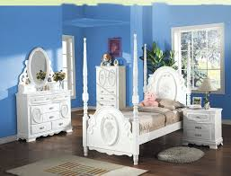 blue and white furniture. Kids Room:Girls Blue Color Room With White Furniture Combination Designs And P