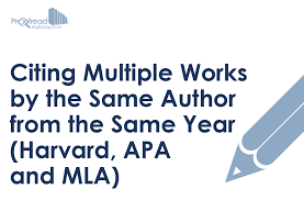 Citing Multiple Works By The Same Author From The Same Year
