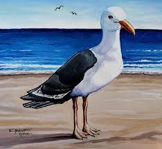 bird painting the sea gull by elizabeth robinette tyndall