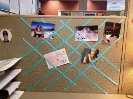 you can pin ribbon to the wall of the cubicle for a decorative photo collage 1 cubicle decorating ideas cubicle office space design elegant decorating office cubicle walls