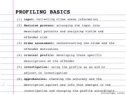criminal profiling profiling