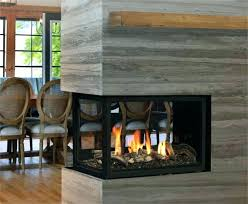 three sided electric fireplace panorama series in 3 built
