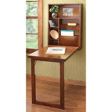 gany wall mounted folding desk for small space with open shelves storage and adjule legs on