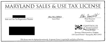 License State Tax Tax Sales