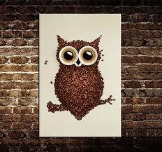 Canvas Design Ideas hot sell beauty modern new idea designcoffee beans and an owl canvas print
