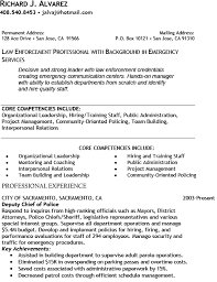 Chief Of Police Resume Examples Sample Police Officer Resume