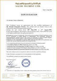 Example Certificate Appreciation Certificate Letter Format Copy