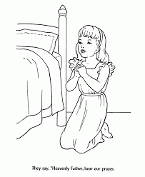 back to school coloring pages children at bedtime prayer