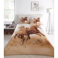portfolio galloping horses duvet cover set multi