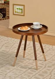 Amazoncom Walnut Finish Round Bentwood Chair Side End Table