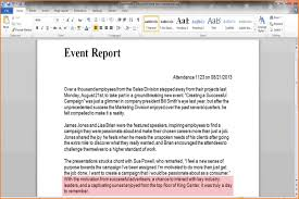 write a report event report writting samples of writing write an step 9 version 2