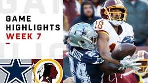 Cowboys vs. Redskins Week 7 Highlights | NFL 2018 - YouTube