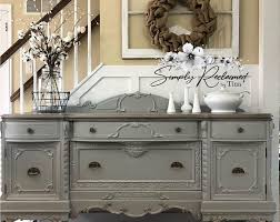 SOLD- Antique Buffet sideboard cabinet with tall legs. Grey and black  distressed. Shabby chic French country home. San Francisco, California |  Antique buffet, Buffet table decor, Farmhouse chic dining room