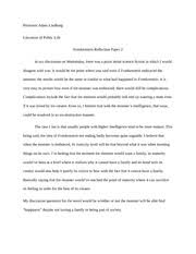 do the right thing essay professor adam lindberg literature of 1 pages frankenstein reflection notes 2