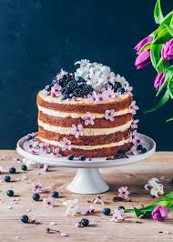 Lemon Blueberry Cake Vegan Layer Cake Bianca Zapatka Foodblog