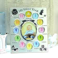 12 month baby frame a picture