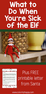 the elf on the shelf sitting on a shelf with the words what to do