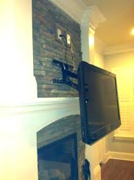 mounting tv on brick fireplace how to