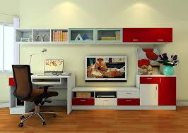 wall units enchanting wall unit with computer desk wall unit with desk and tv red