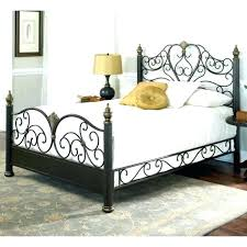 Rustic Metal Bed Frame Rustic Metal Bed Frame Wrought Iron Frames ...