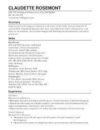 Engineering Functional Resumes Resume Help