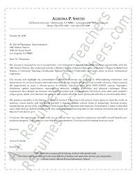 Special Education Cover Letter Michael Resume