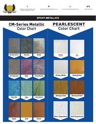 Ctm Epoxy Color Chart Metallic Epoxy Pigments