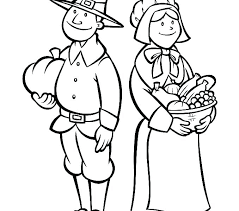 thanksgiving pilgrim girl coloring pages. Brilliant Girl Thanksgiving Pilgrim Coloring Pages Pilgrims Page  Harvest Girl With G