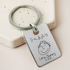 personalised sterling silver drawing keyring