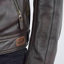 rsd walker leather jacket brown logo